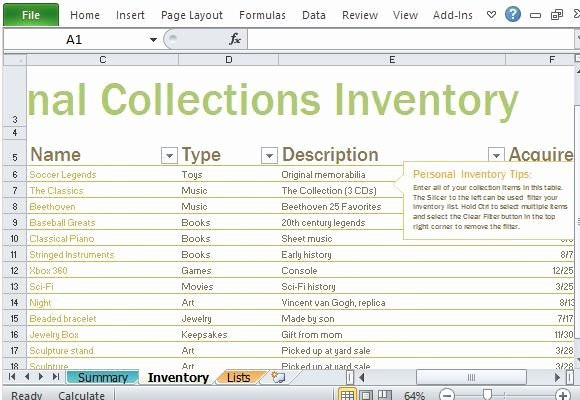 Inventory List Template Excel Inspirational 4 Inventory List Templates Excel Excel Xlts