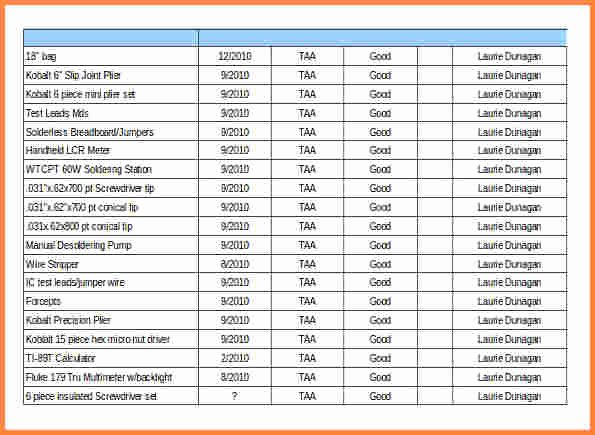 Inventory List Template Excel New 5 tool Inventory Spreadsheet