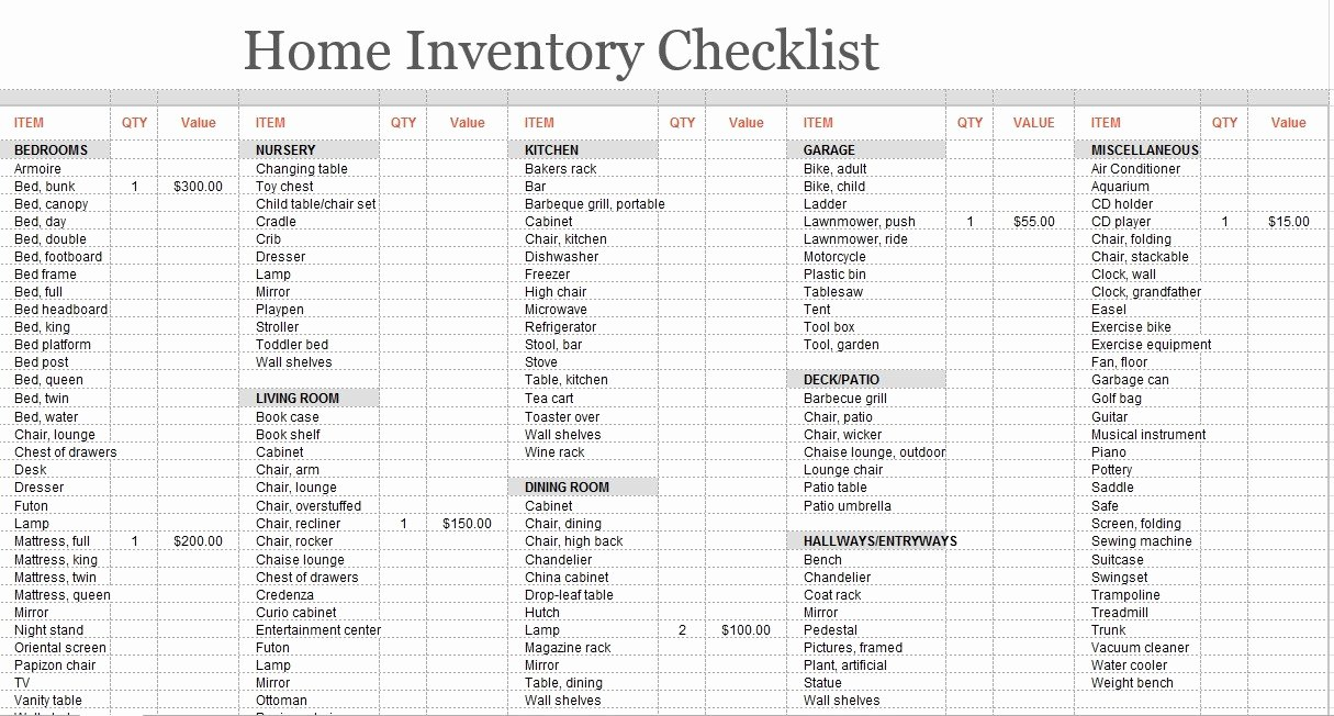 Inventory List Template Excel New 8 Free Sample Moving Inventory List Templates Printable