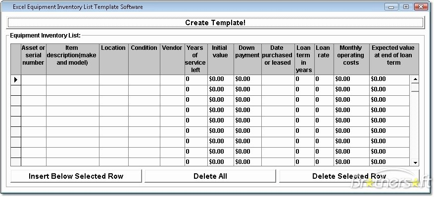 Inventory List Template Excel New Fice Equipment Fice Equipment Inventory List