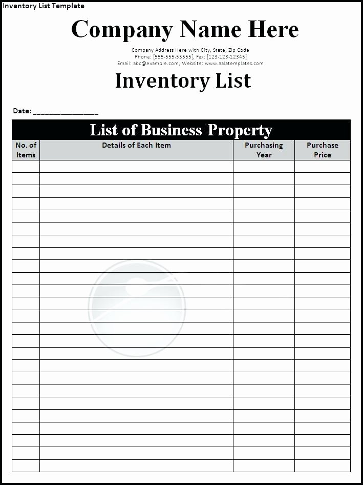 Inventory List Template Excel Unique Inventory Sign Out Sheet Template