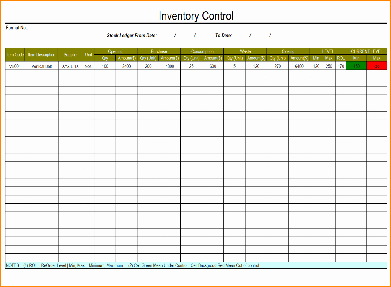Inventory Sheet Template Excel Fresh Excel Inventory Template with formulas 1 Inventory