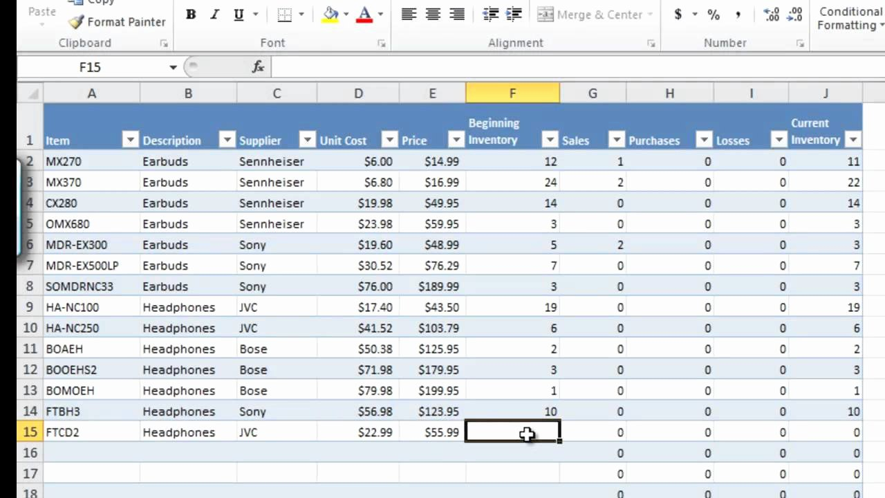 Inventory Sheet Template Excel Inspirational How to Manage Inventory with Excel Inventory Tracking