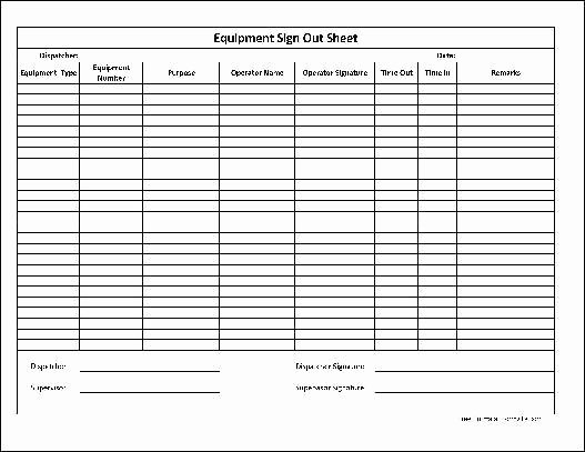Inventory Sign Out Sheet Template Fresh Inventory Sign Out Sheet Template Free Download 20