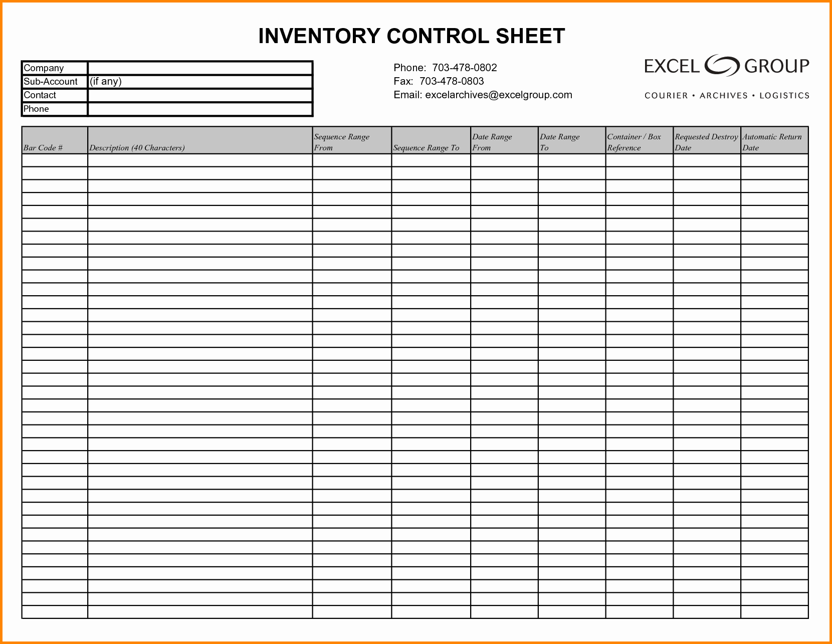 Inventory Sign Out Sheet Template Inspirational Inventory Log Sheet