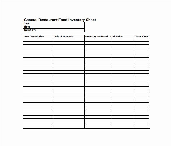 Inventory Sign Out Sheet Template New Inventory Sheet Template 14 Free Excel Pdf Documents