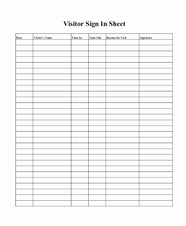 Inventory Sign Out Sheet Template New Sign In and Sign Out Sheet Template – Flirty
