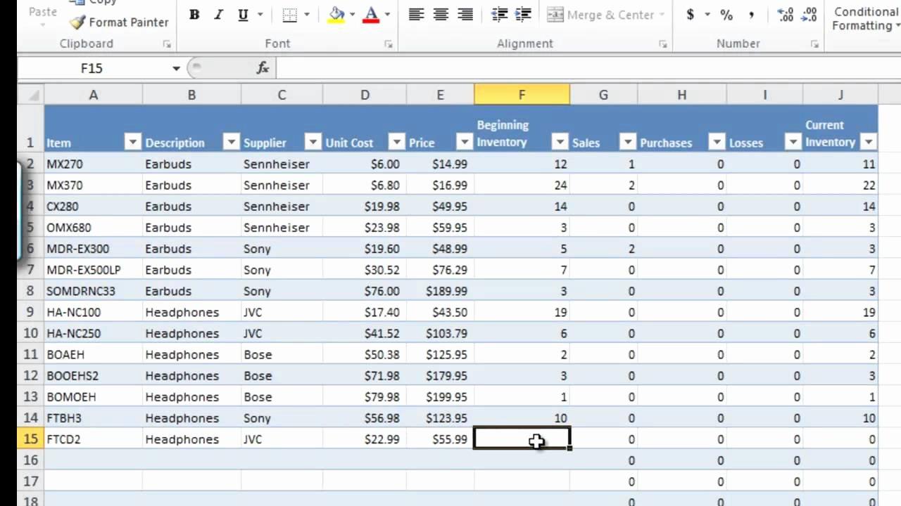 Inventory Worksheet Template Excel Luxury How to Manage Inventory with Excel Inventory Tracking
