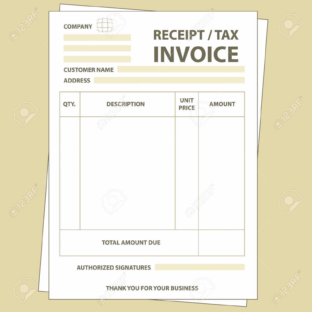 Invoice and Receipt Template Luxury Tax Invoice Receipt Template Invoice Template Ideas