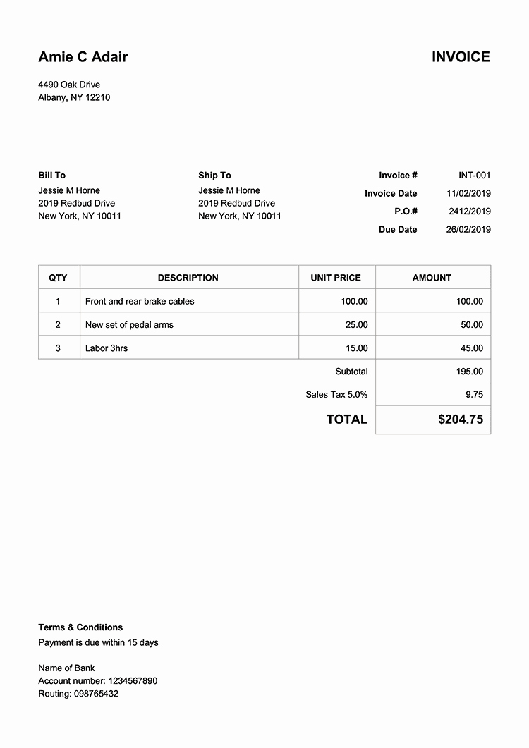 Invoice and Receipt Template New 100 Free Invoice Templates Print & Email as Pdf
