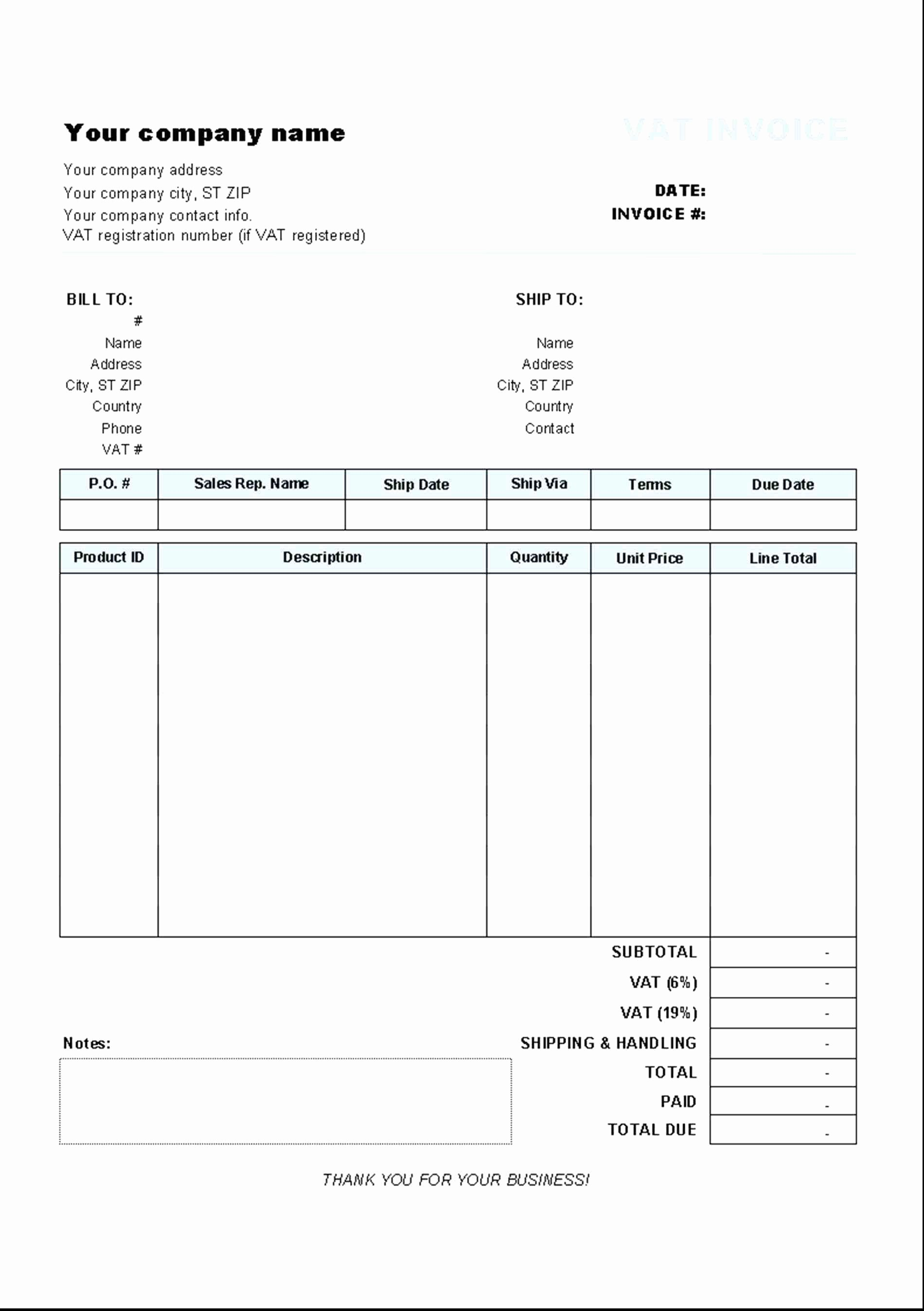 Invoice and Receipt Template New Tax Invoice Receipt Template