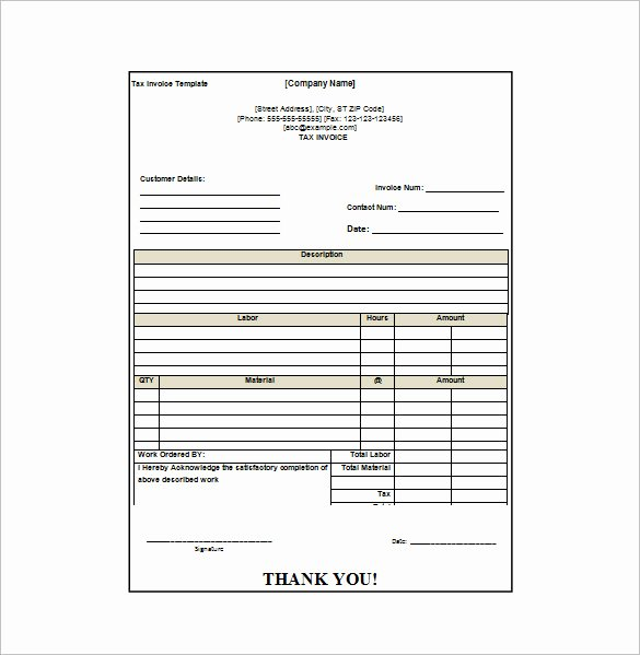 Invoice and Receipt Template Unique Invoice Receipt Template Word
