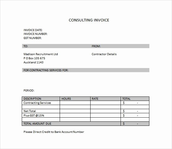 Invoice Template for Consulting Services Beautiful 10 Invoice Templates