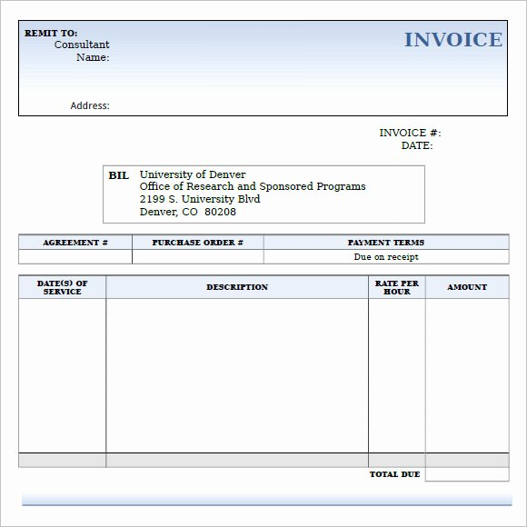 Invoice Template for Consulting Services Elegant 9 Consulting Invoice Samples Word Pdf