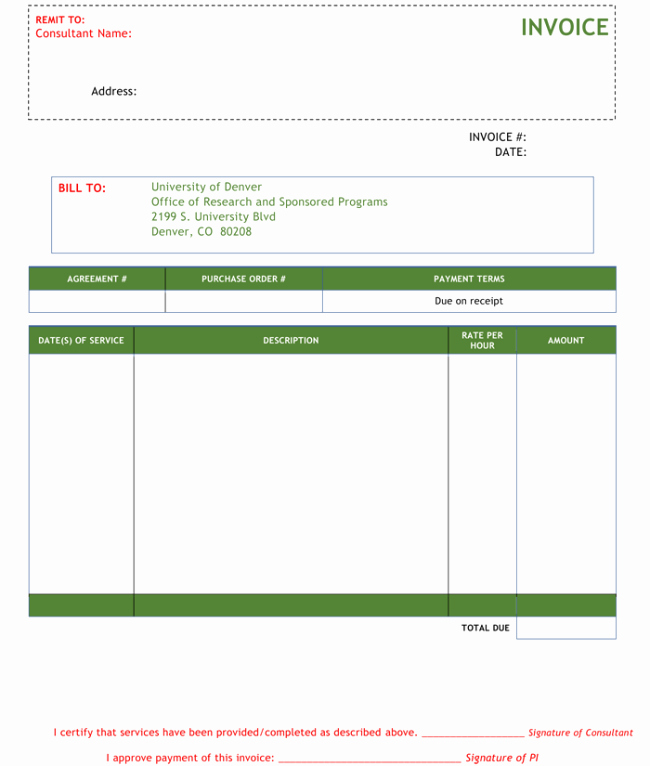 Invoice Template for Consulting Services Fresh 3 Consulting Invoice Templates to Make Quick Invoices
