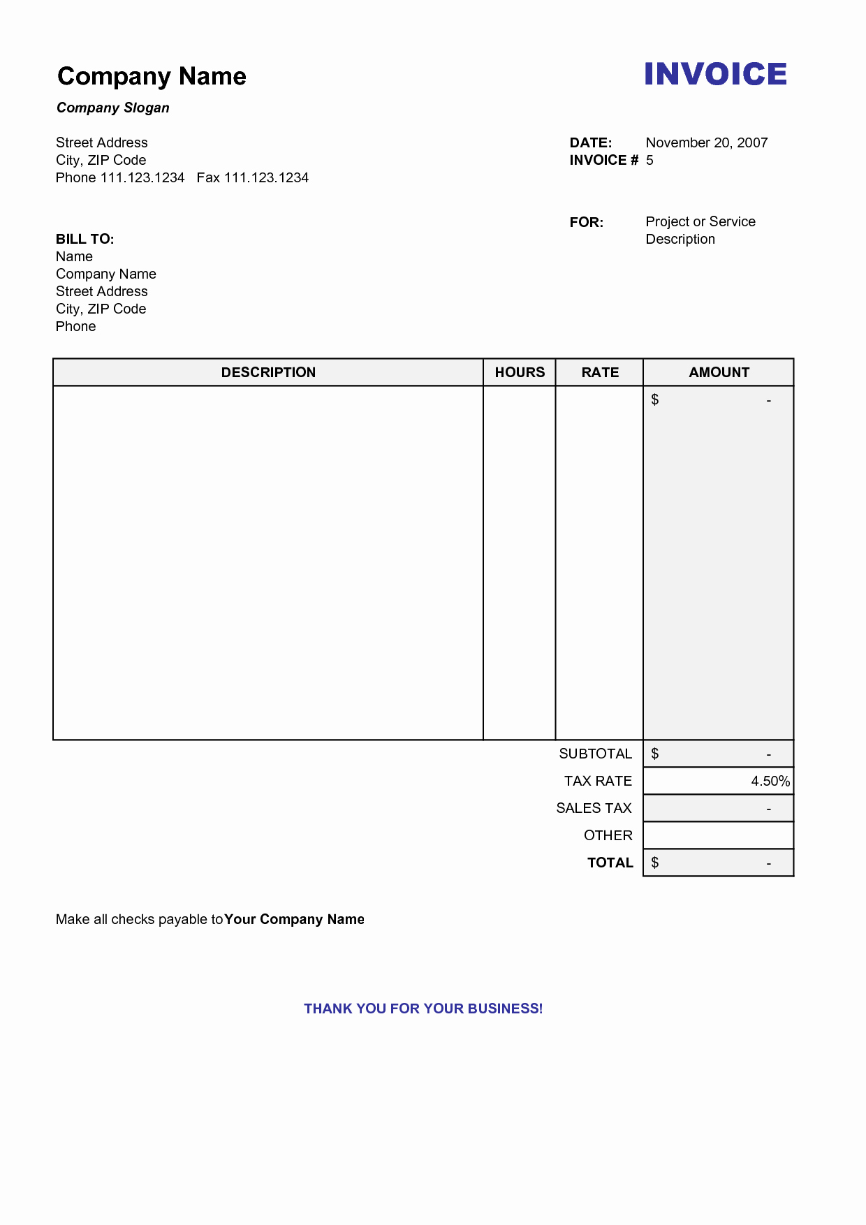 Invoice Template for Contract Work Luxury Itemized Billing Statement Template Invoice Pinterest Free