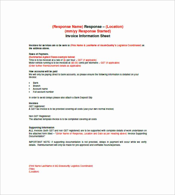 Invoice Template for Contract Work Unique Contract Invoice Template – 8 Free Sample Example