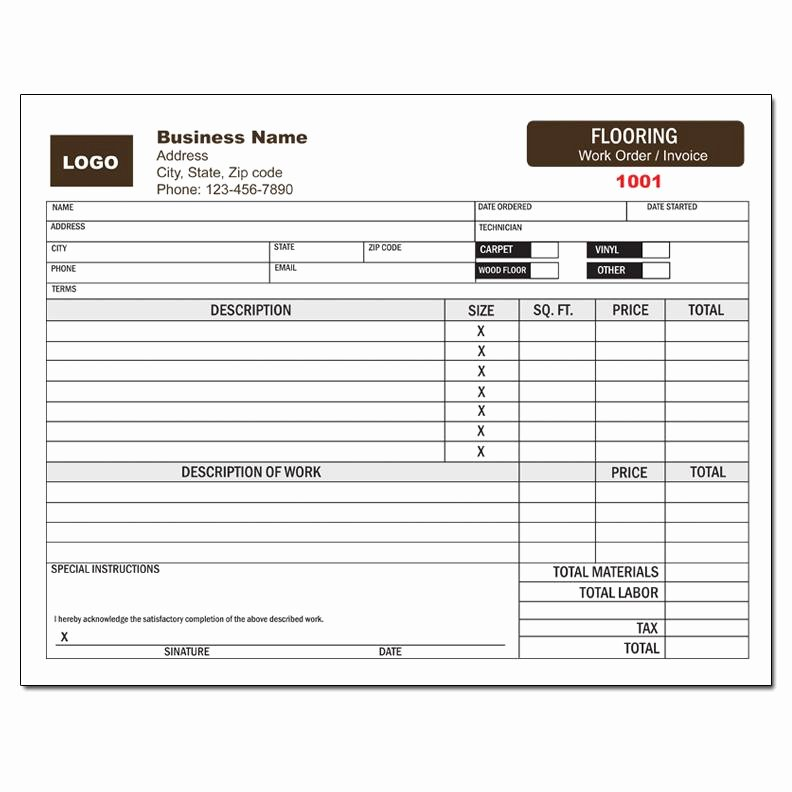 Invoice Template for Contract Work Unique Flooring Contract Template – Floor Matttroy