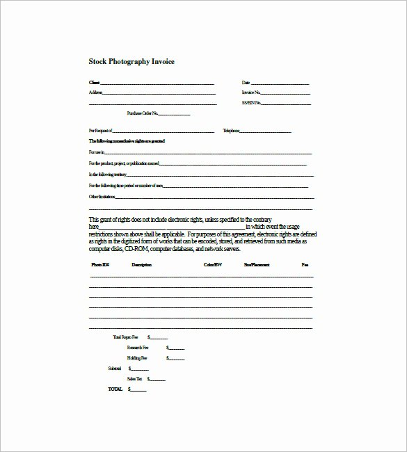Invoice Template for Freelance Awesome Graphy Invoice Template 7 Free Word Excel Pdf