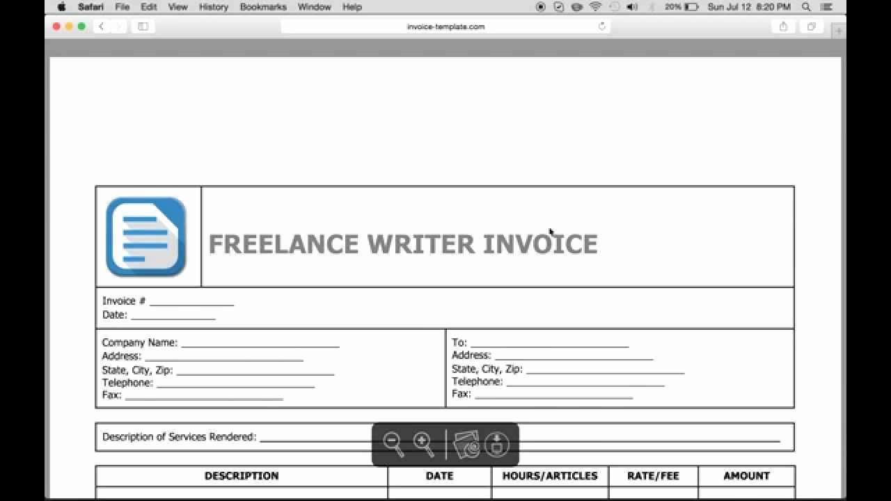 Invoice Template for Freelance Beautiful Write A Freelance Writer Invoice Excel Word