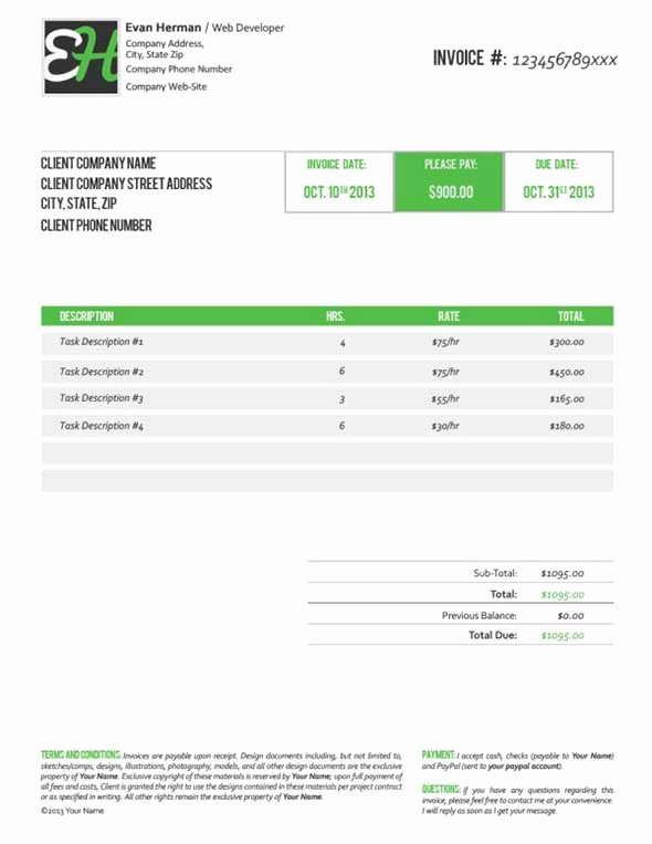 Invoice Template for Freelance Best Of 40 Invoice Templates