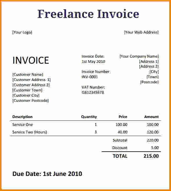 Invoice Template for Freelance Elegant [download] Freelance Writer Invoice Template Bonsai