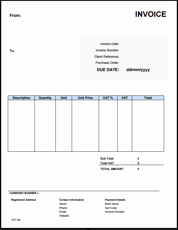 Invoice Template for Freelance Luxury Free Invoice Template Uk Use Line or Download Excel & Word