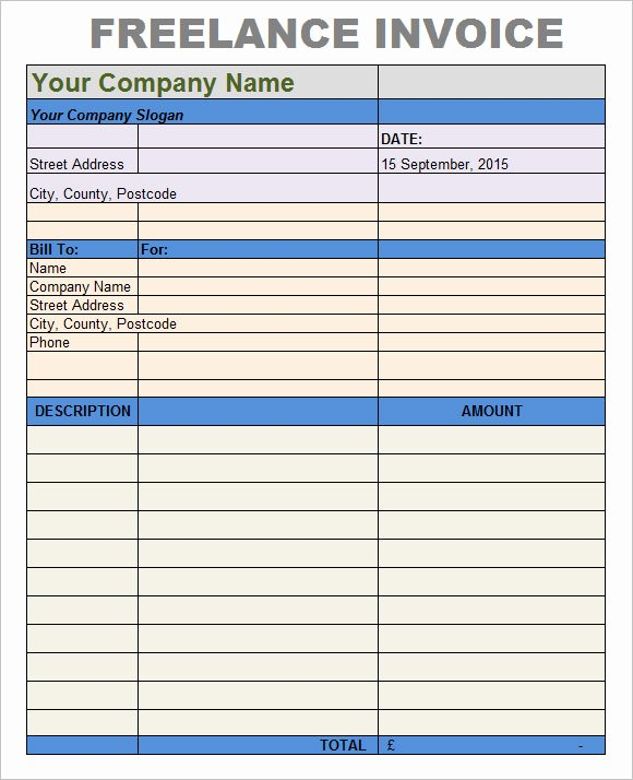 Invoice Template for Freelance New 8 Freelance Invoice Templates – Free Samples Examples