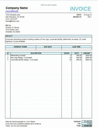 Invoice Template for Hours Worked Beautiful Invoice Hours Worked Template