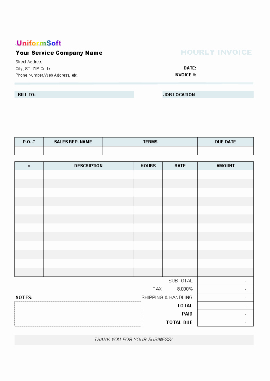 Invoice Template for Hours Worked Fresh Invoice Template Hours Worked