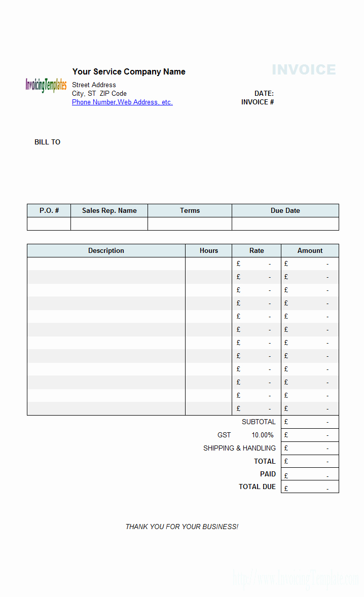 Invoice Template for Hours Worked Luxury Free Invoice Template for Hours Worked 20 Results Found