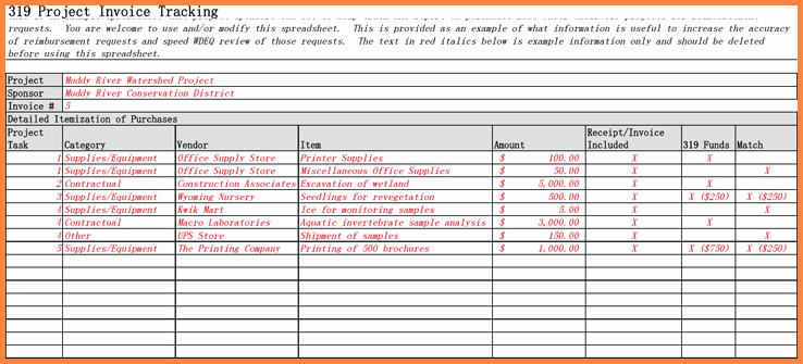 Invoice Tracking Template Excel Best Of 5 Contract Tracking Spreadsheet