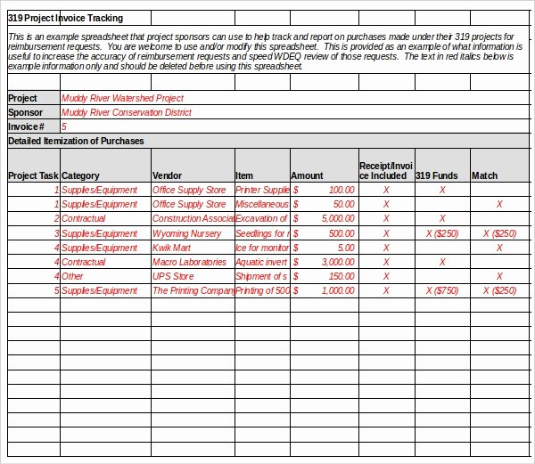 Invoice Tracking Template Excel Best Of 8 Invoice Tracking Templates – Free Sample Example