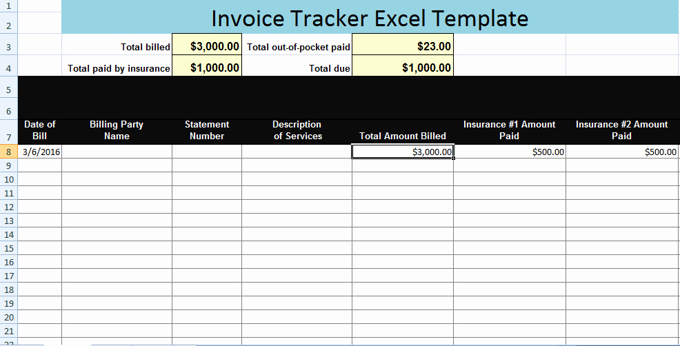 Invoice Tracking Template Excel Best Of Invoice Tracker Excel Template Xls