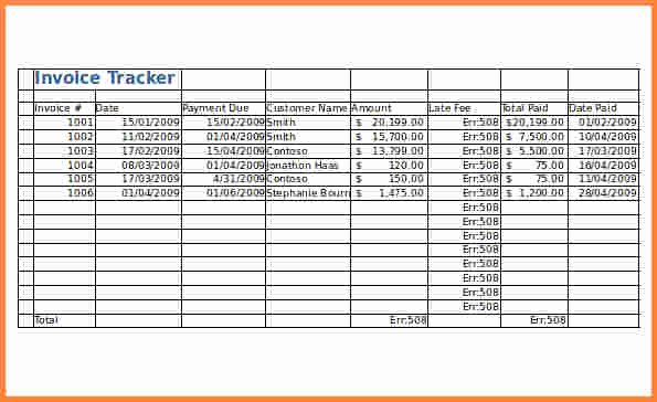 Invoice Tracking Template Excel Lovely 4 Invoice Tracking Spreadsheet