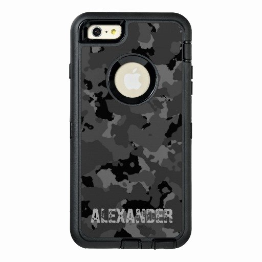 iPhone 6s Case Template Elegant Dark Camo Name Template Otterbox iPhone 6 6s Plus Case
