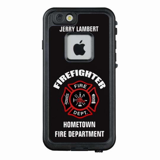 iPhone 6s Case Template Inspirational Firefighter Name Template Lifeproof iPhone Case