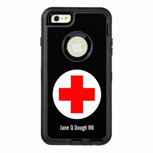 iPhone 6s Case Template Inspirational Nurse Name Template Otterbox iPhone 6 6s Plus Case