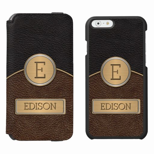 iPhone 6s Case Template Lovely Executive Monogram Name Template iPhone 6 6s Wallet Case