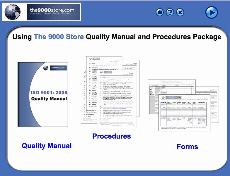 Iso 9001 Work Instruction Template Awesome iso 9001 2015 Quality Manual & Procedures 9000 Store