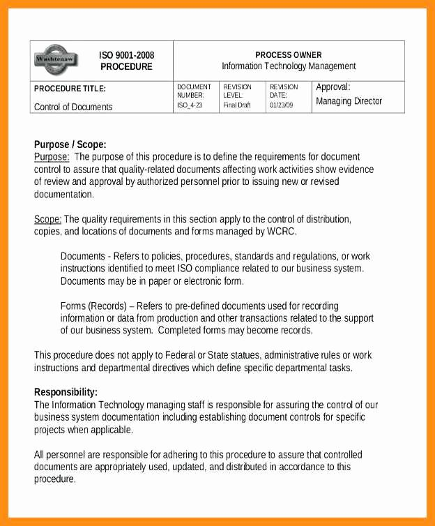 Iso 9001 Work Instruction Template Elegant 11 12 Step by Step Instructions Template