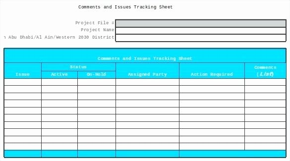 Issue Tracking Excel Template Elegant issue Tracker Excel Template Tracking Spreadsheet Google