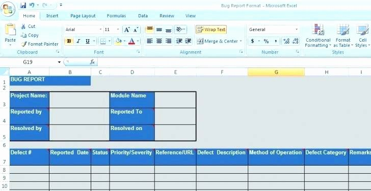 Issue Tracking Excel Template New issue Tracking Spreadsheet Template Excel Bug Defect