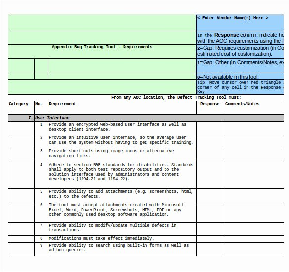 Issue Tracking Template Excel Awesome Bug Tracking Template – 4 Free Word Excel Pdf Documents