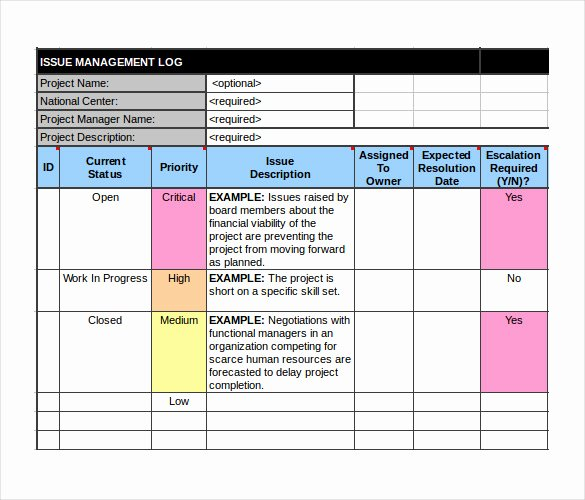 Issue Tracking Template Excel Beautiful 16 Tracking Templates Doc Pdf