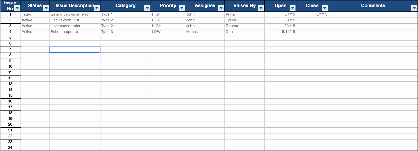 Issue Tracking Template Excel Best Of issue Tracker Excel Template Engineering Management
