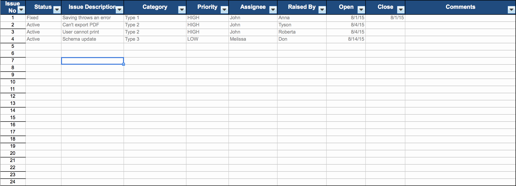 Issue Tracking Template Excel Fresh Free Excel Project Management Templates