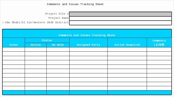 Issue Tracking Template Excel Luxury 9 issue Tracking Templates Free Sample Example format