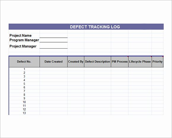 Issue Tracking Template Excel Luxury issue Tracking Template 7 Free Download for Pdf Excel
