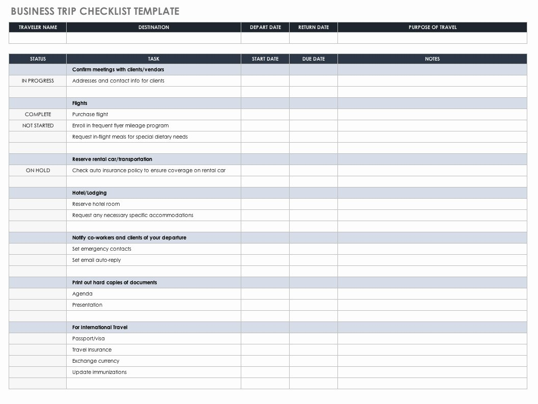 It Audit Checklist Template Fresh Free Task and Checklist Templates